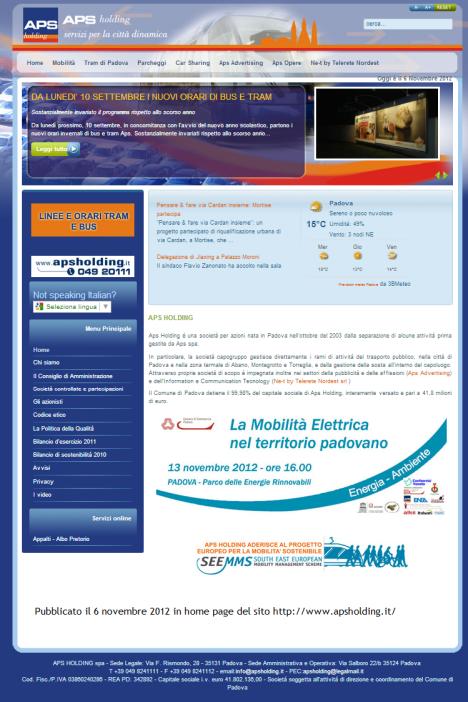 2012 11 06 APS Holding azienda
